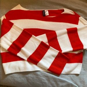 Red and White Sweater